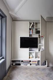 Hide Tv In Wall Tv Wall Design Idea Hide Shelves With Large Custom Made Cabinet