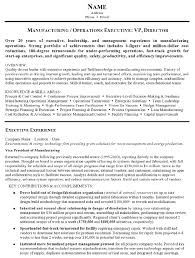 resume sample    manufacturing and operations executive resume    resume sample   operations executive page