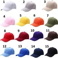 <b>Plain</b> Baseball Cap <b>Solid Color</b> Blank <b>Curved</b> Visor Hat Adjustable ...