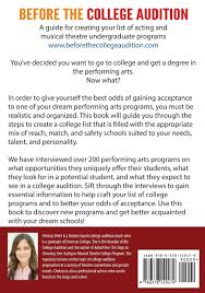 before the college audition a guide for creating your list of before the college audition a guide for creating your list of acting and musical theatre undergraduate programs chelsea diehl 9780578149479 com