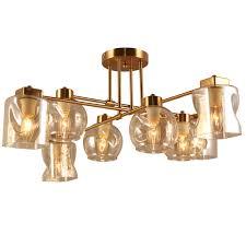 <b>люстра подвесная LAMPLANDIA</b> Helda 8х40Вт E14 металл золотая