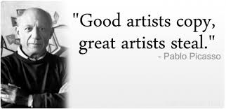 good artists copy great artists steal - Hľadať Googlom | Quotes ... via Relatably.com
