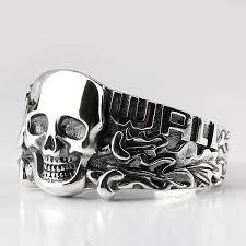 <b>Real 925 Sterling Silver</b> Skull Ring – Coooolstuff