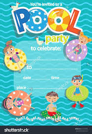 pool party invitation template gangcraft net pool party invitation template card kids stock vector party invitations