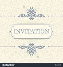 vintage invitation card template stock vector shutterstock vintage invitation card template