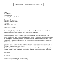 sample credit report dispute letter credit paying off debt sample credit report dispute letter