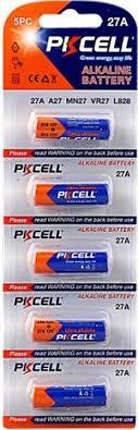 <b>Батарейка A27</b> щелочная <b>PKCELL</b> 12V 27A-5B 5шт — купить в ...