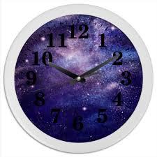 <b>Часы круглые из</b> пластика Космический фон #823313 от Naoki ...