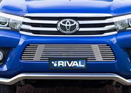 <b>Решетка бампера d10</b> + комплект крепежа, RIVAL Toyota Hilux 2015