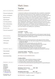 middle school english teacher resume sample