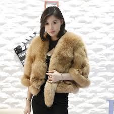new style fashion women <b>real genuine fox</b> fur poncho coat <b>100</b> ...