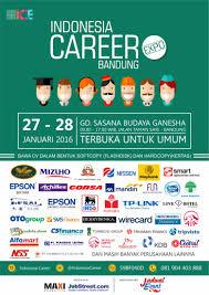 job fair career expo bandung januari jadwal job fair career expo bandung januari 2016
