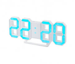 <b>Часы</b>-будильник <b>Perfeo</b> LED <b>LUMINOUS</b>, white / blue (<b>PF</b>-<b>663</b> ...