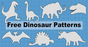 <b>Dinosaur Patterns</b> and Stencils (Printable Templates) – Patterns ...