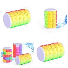 3D Rotate Slide Magic Cube Cylinder Tower <b>Beads Puzzle</b> Fidget ...