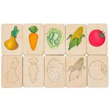 <b>Карточки</b>-<b>раскраски Wood</b> Games, <b>овощи</b> (артикул 11495.01 ...