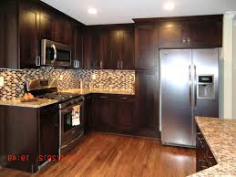 Dark Brown Kitchen Cabinets Light Or Dark Wood Kitchen Cabinets Makeovers With Colored Island