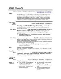 sample resume example resume template for market strategy analist with experience sample job specific job specific resume templates
