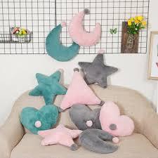 home <b>baby room sofa</b> cushion star moon heart triangle <b>soft</b> travel ...