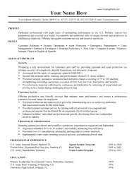profile resume example  seangarrette comilitary resume example for profile with skills and areas of strength   profile resume example