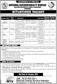 nab jobs in peshawar nts application form job advertisement