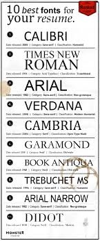the best fonts for your resume ranked ly the best fonts for your resume ranked infographic