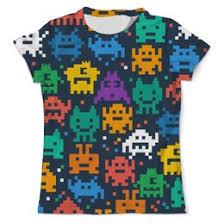 """Мужские <b>футболки</b> c необычными принтами """"pixel art"""" - <b>Printio</b>"""