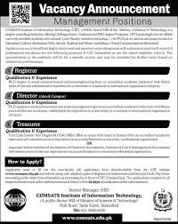 best jobs in comsats institute of information technology jan best jobs in comsats institute of information technology 22 jan 2017