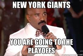 New York Giants You are going to the playoffs - Steve Harvey Miss ... via Relatably.com