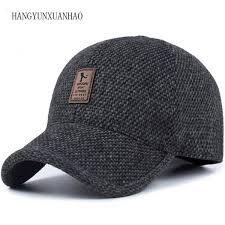 <b>HANGYUNXUANHAO</b> Woolen Knitted Design <b>Winter</b> Baseball <b>Cap</b> ...
