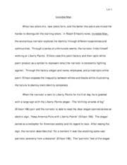 essay on invisible man  oglasico identity outline invisible man outline introduction thesis pages afro r b invisible man essay