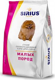 <b>Sirius</b> мелких пород <b>сухой корм</b> для собак