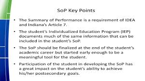 mission impossible no way the new iep and summary of performance the new iep and summary of performance sop