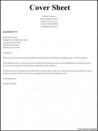 resume fax cover sheet template resume fax cover sheet fax cover letter format