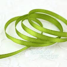 """(<b>25 yards</b>/roll ) 1/4"""" (<b>6mm</b>) Fruit Green Single Face Satin Ribbon ..."""