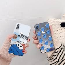 Cute <b>Cartoon Sesame Street</b> Cookie Elmo Transparent Clear <b>Phone</b> ...