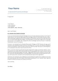 free cover letter samples management bplans business    resume