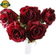 XHSP 5pcs/lot High-grade Artificial Rose Flowers ... - Amazon.com