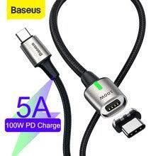 <b>Магнитный кабель Baseus</b> 100 Вт/5А Type C к Type C кабель для ...