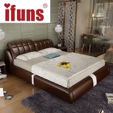 ifuns cheap bedroom furniture double sofa bed fram brown leather bedroom furniture