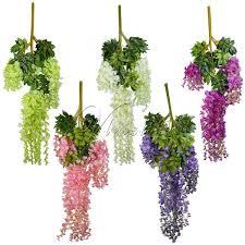 <b>24Pcs Lot</b> 105Cm <b>Silk</b> Wisteria <b>Artificial</b> Hanging <b>Flowers</b> Hanging ...