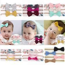 3Pcs/Set <b>Cute Baby Girl</b> Headbands Colorful Newborn Baby Bows ...
