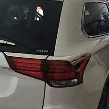 ABS Chrome Tail Light Lamp Cover Trim Bezel <b>For Mitsubishi</b> ...