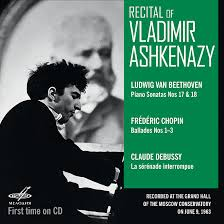 Recital of <b>Vladimir Ashkenazy</b>. Moscow, June 09, 1963 (Live) (1 CD)