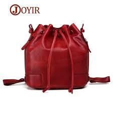 <b>JOYIR</b> Vintage Fashion <b>Women</b> Genuine Leather Bucket <b>Bag</b> Tassel ...