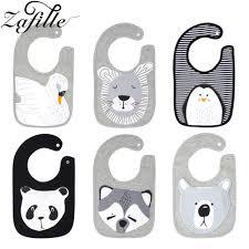<b>ZAFILLE</b> Baby Bibs Waterproof <b>Cotton</b> Cute Animal Print Baberos ...