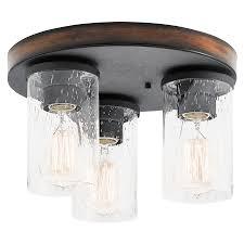 Flush Mount Kitchen Ceiling Lights Shop Flush Mount Lights At Lowescom