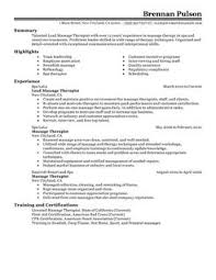 example of resume massage therapist personal statement examples    massage therapist of resume example