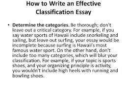 a classification essaywhat is a classification essay  in a     how to