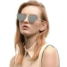 Gradient <b>Ocean Lens</b> Cat Eye <b>Womens</b>- <b>Sunglasses</b>